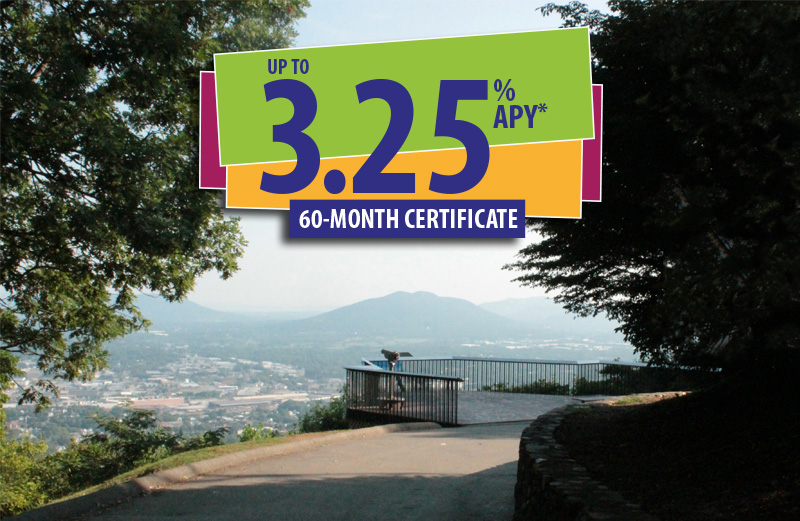 Roanoke star overlook with up to 3.25% APY Certificate offer