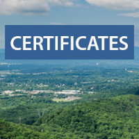Text: Certificates; Background: Carvin's Cove