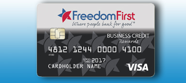 Freedom First business rewards credit card