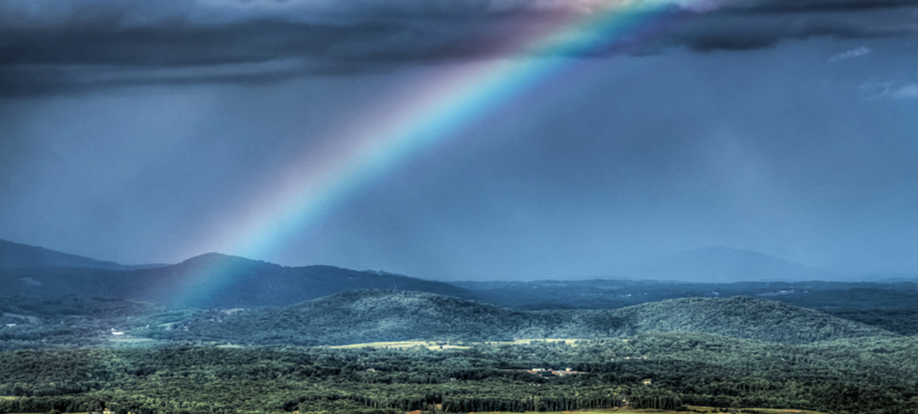 Rainbow over Pine Mountain near Roanoke