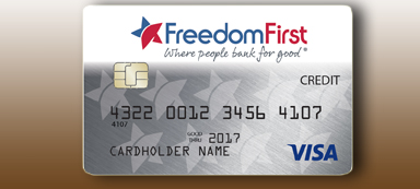 Freedom First low rate Visa card