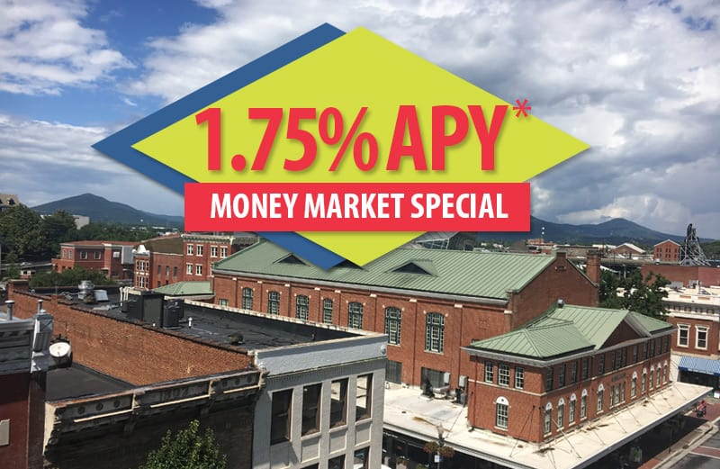 1.75% APY* money market special